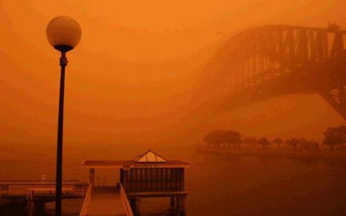 Red Sky Sydney Australia